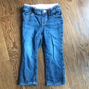 Jeans lined with soft cotton